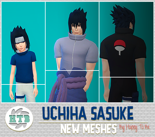 Uchiha Sasuke | Happy To Be | ts4 | Pinterest | Sims and Naruto