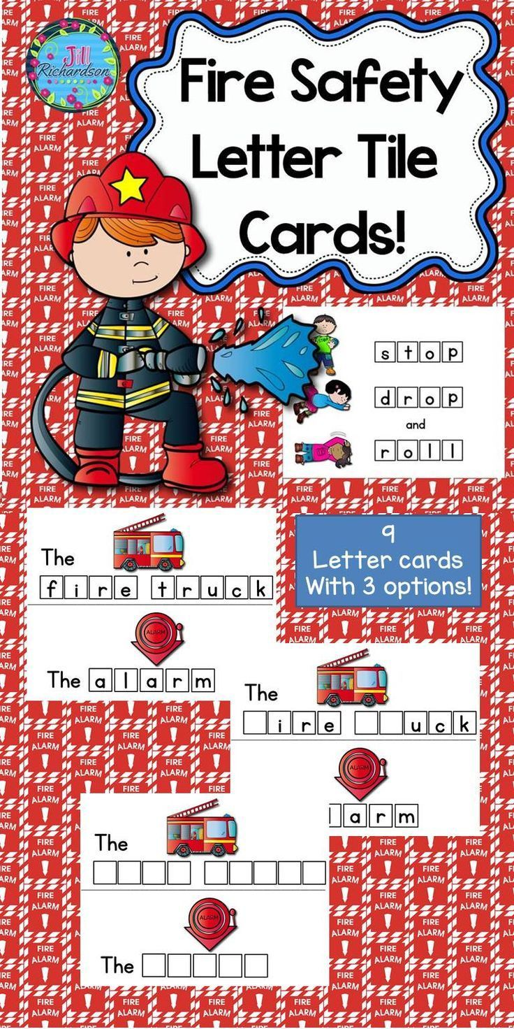 Fire Safety Activities Letter Tiles Best of TPT