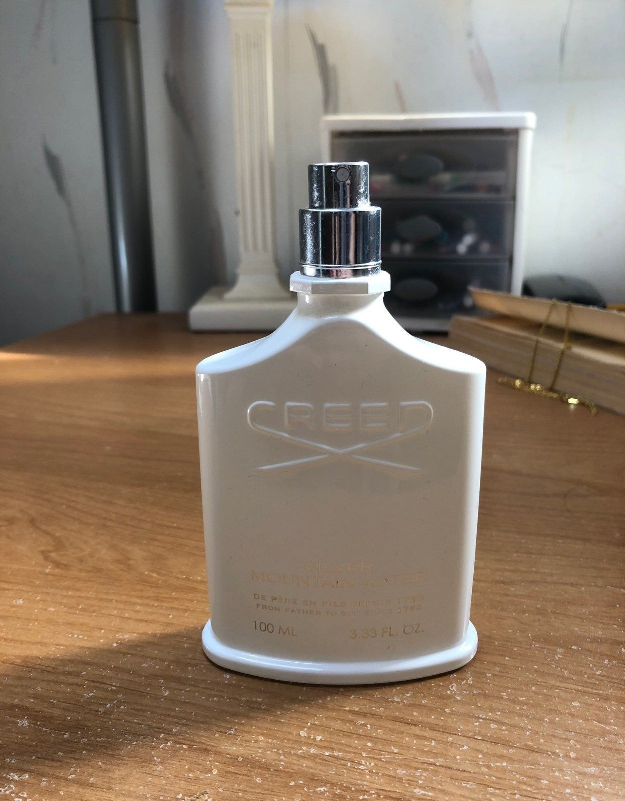 Creed Silver Mountain Water Cologne 100 Authentic Tester Bottle Barely Used 3 3oz Selling Fast Perfume Bottles Bottle Perfume