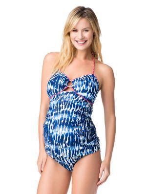 6051115819a82 Destination Maternity Jessica Simpson Hardware Detail Maternity Tankini  Swimsuit