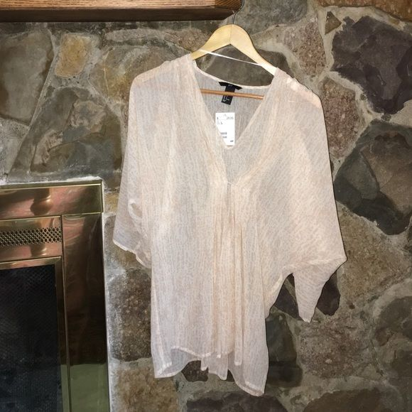 NWT sheer tunic Loose fit oversized tunic. Sheer. Would make a great coverup. H&M Swim Coverups