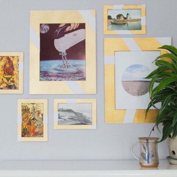 a gallery wall without nailing one frame into the walls? yep, this ones for you. light enough to hang up on the walls or take with you to give as gifts,