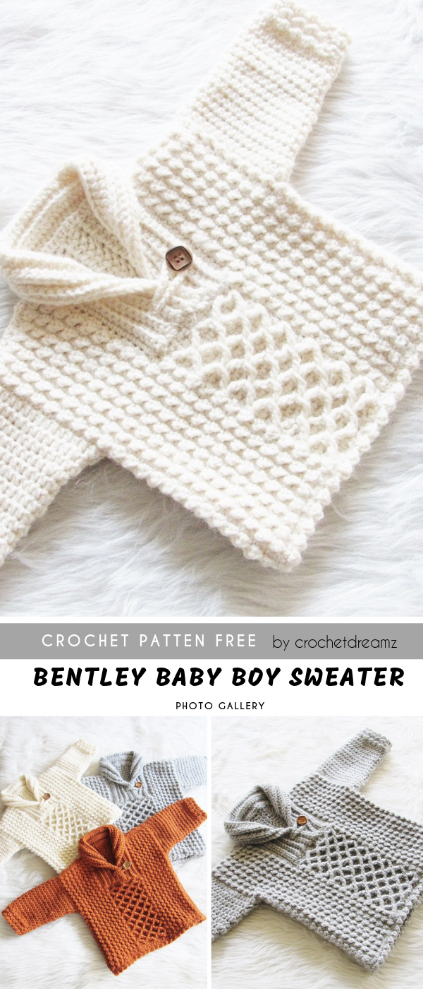 Photo of Bentley Baby Boy Crochet Sweater