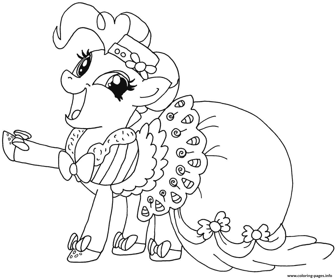Print Happy Pinkie Pie My Little Pony Coloring Pages My Little Pony Coloring My Little Pony Unicorn Horse Coloring Pages [ 1121 x 1352 Pixel ]