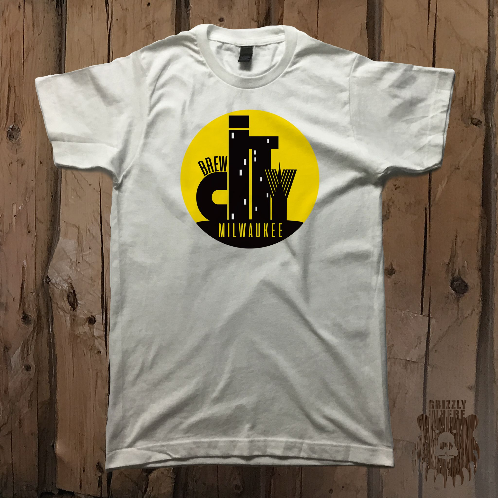 """Brew City Milwaukee"" Unisex Graphic Tee from Grizzly Where"