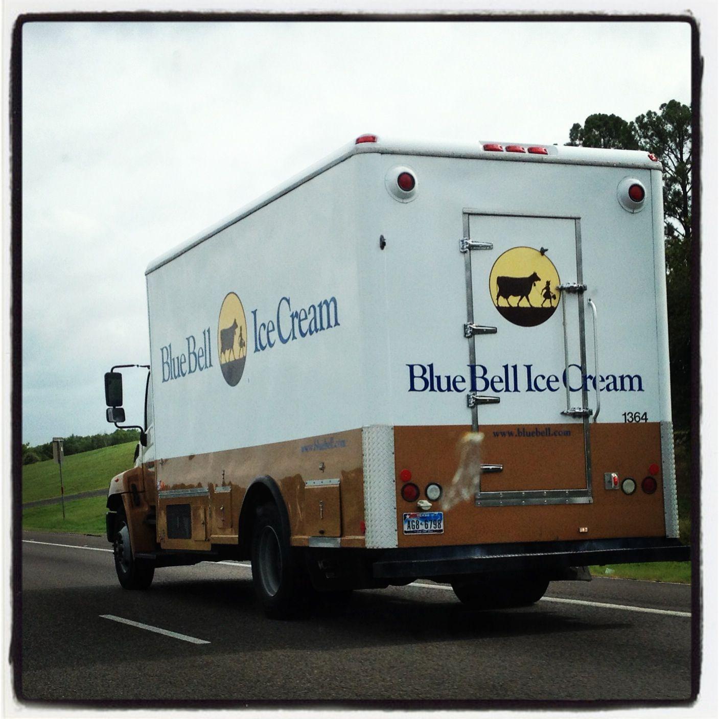 Bluebell ice cream truckmade in texas ice cream