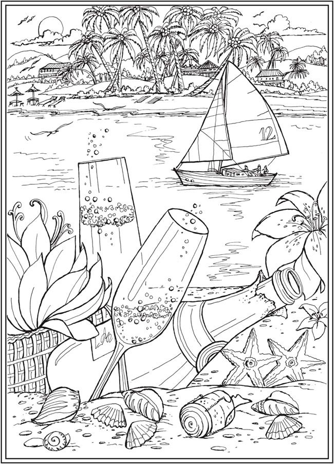 Welcome To Dover Publications Beach Coloring Pages Adult Coloring Book Pages Cute Coloring Pages
