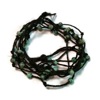 Cool beach-style hemp wrap bracelet