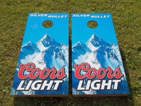 Stupendous Coors Light Silver Bullet Corn Hole Boards Bean Bag Toss Ocoug Best Dining Table And Chair Ideas Images Ocougorg