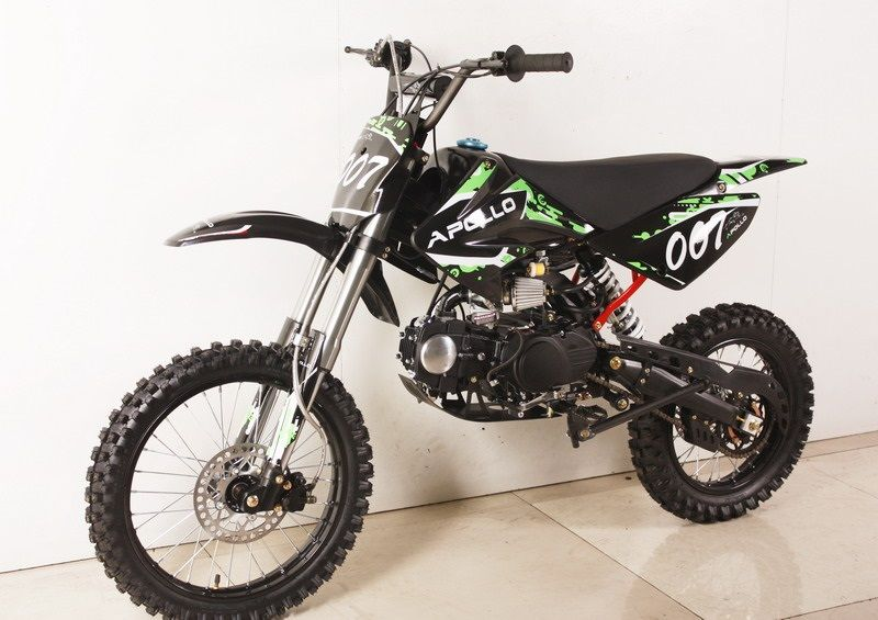 Apollo 125cc Deluxe 4 Speed Pit Dirt Bike With Oversize 17 Tire Bike Pit Bike Dirt Bike