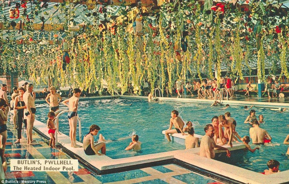 The Holiday Makers Frolicking By The Heated Indoor Pool At Pwllheli, On The  Llŷn