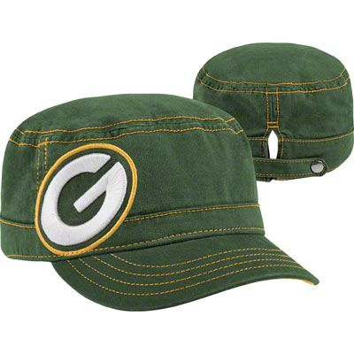 Green Bay Packers Women s New Era Military Chic Cadet Hat  4c07f11a4