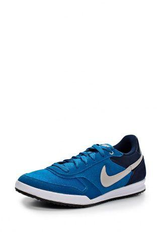878c0dfe Кроссовки Nike выполнены из ворсистой кожи синего оттенка. Детали: вставки  из текстиля, шнуровка