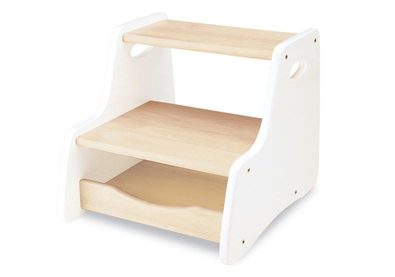 This Beautiful White Step Stool Is Ideal In The Bathroom, Kitchen, Bedroom  Or Anywhere In The House To Aid Toddlers; And The White And Natural  Colouring ...