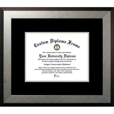 8 5x11 Honors Silver Black Silver Mats Certificate Frame Walmart Com Diploma Frame Certificate Frames Campus Images