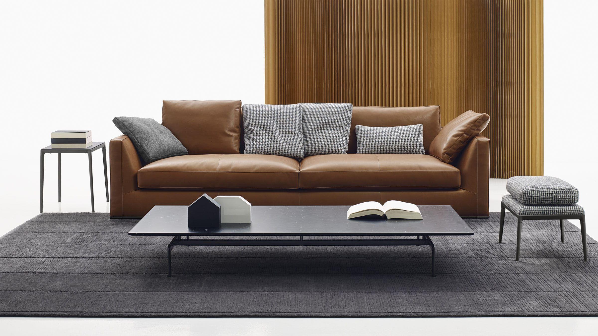 Canapé modulable / contemporain / en cuir / en tissu RICHARD B&B ...