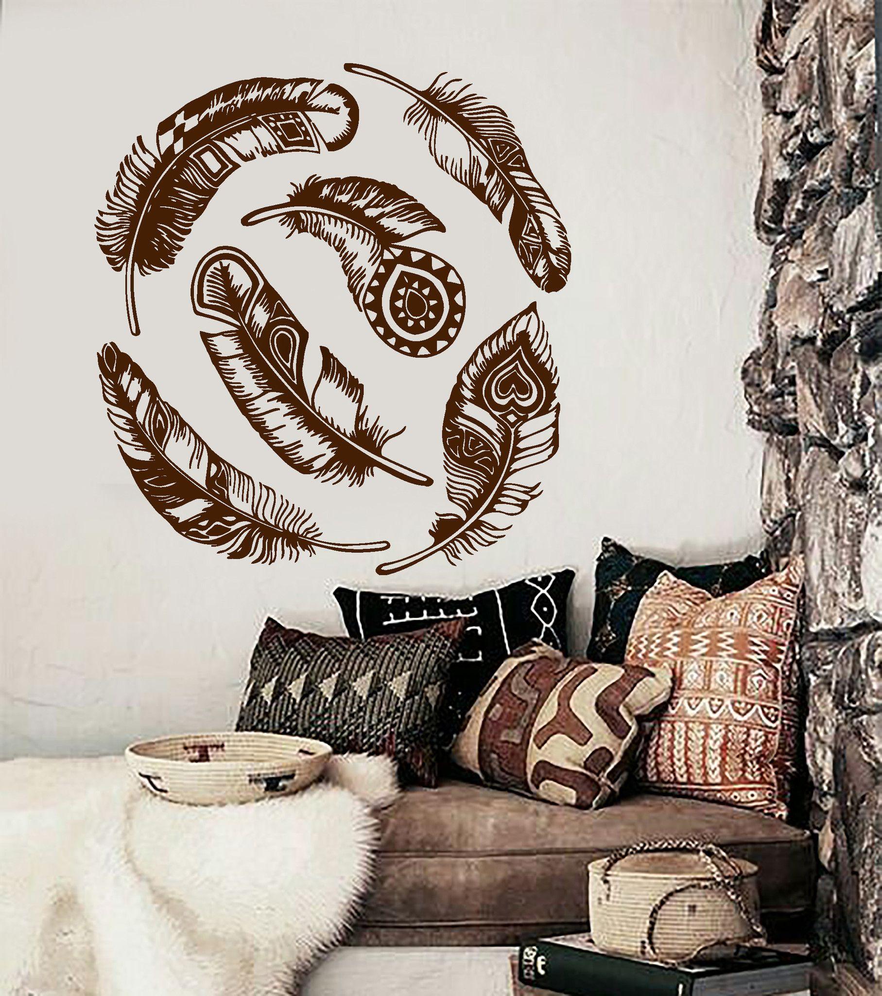 Wall vinyl dreamcatcher dream catcher feather amulet talisman decor