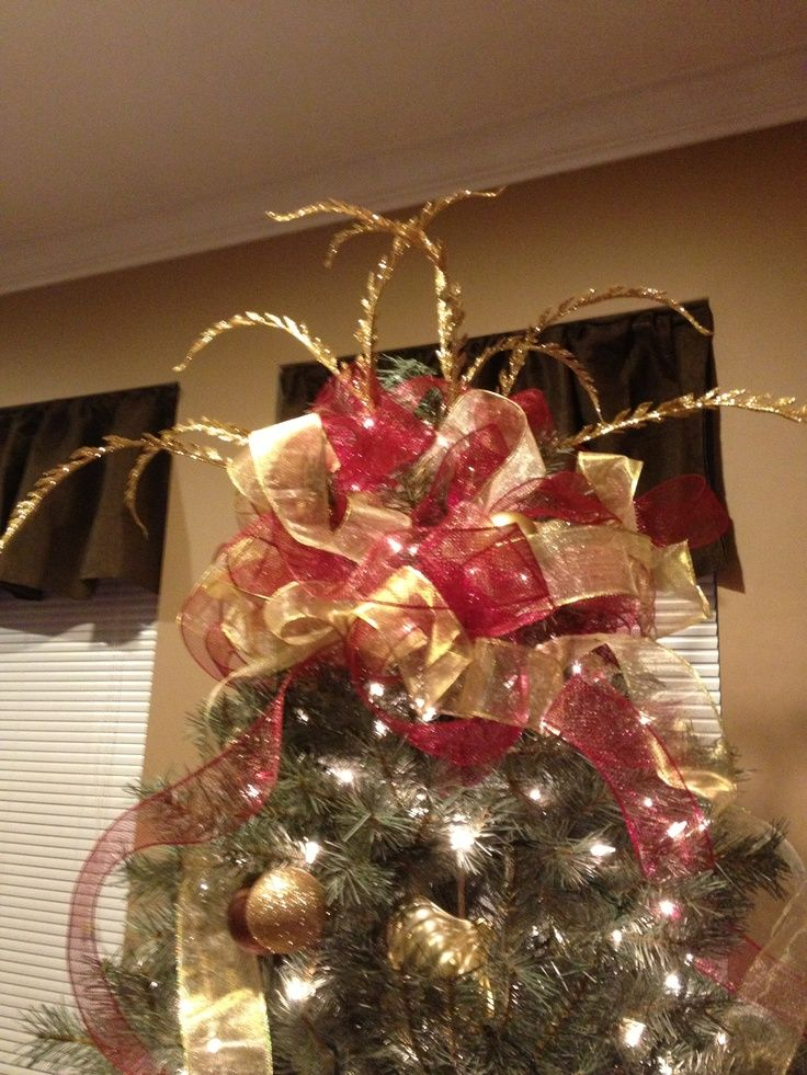 deco mesh tree topper Tree topper using deco mesh and