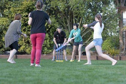 Backyard Cricket In Christchurch New Zealand