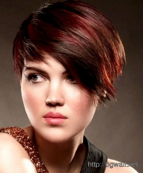 Pictures Of Short Black Hair With Red Highlights My Style