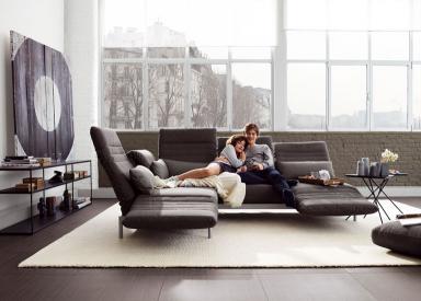 Rolf Schlafsofas lieblings sofas polstermöbel aus leder und stoff living room