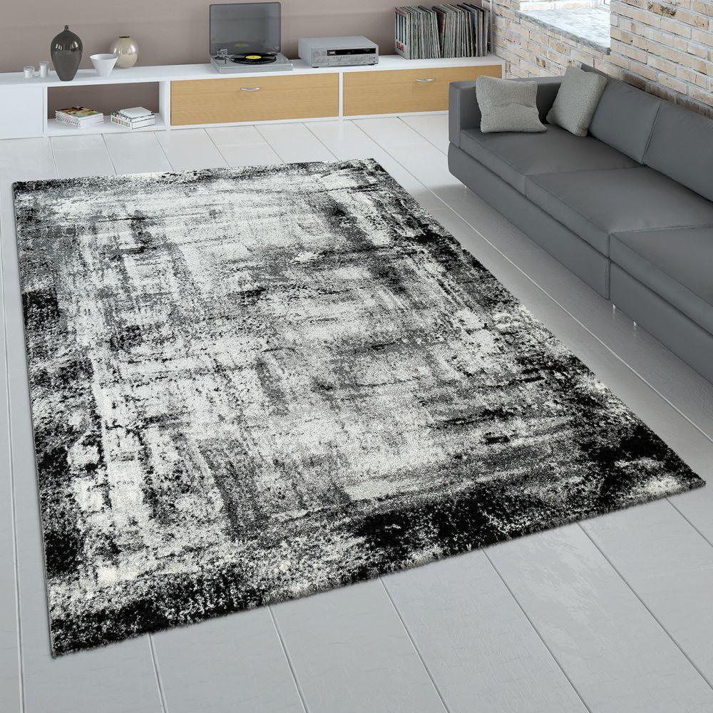 Design Teppich Wohnzimmer Abstraktes Muster Teppich Shaggy
