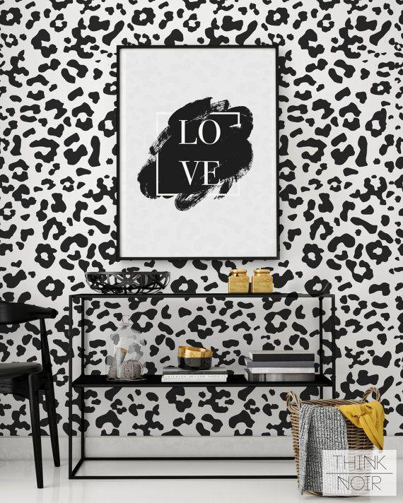 Animal Print Wallpaper Regular Self Adhesive Black Animal Etsy Animal Print Wallpaper Print Wallpaper Removable Wallpaper