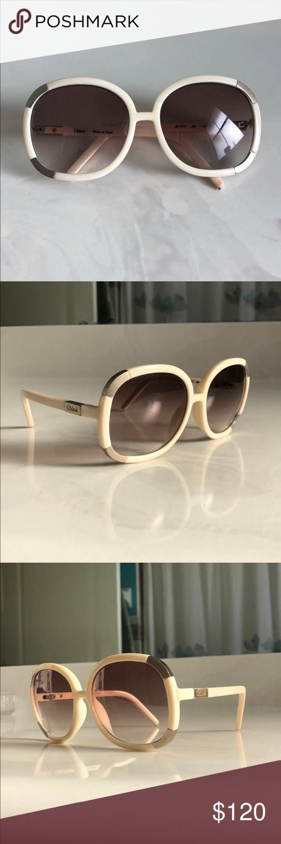 f1228dee818 Chloe Ivory Myrte sunglasses Authentic lenses. Oversized style