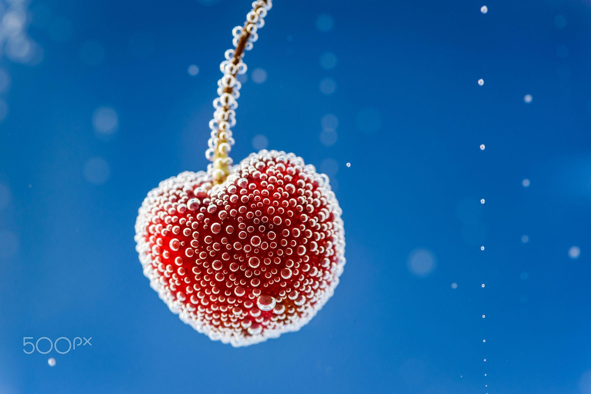 Cherry - Bubbles on a cherry...