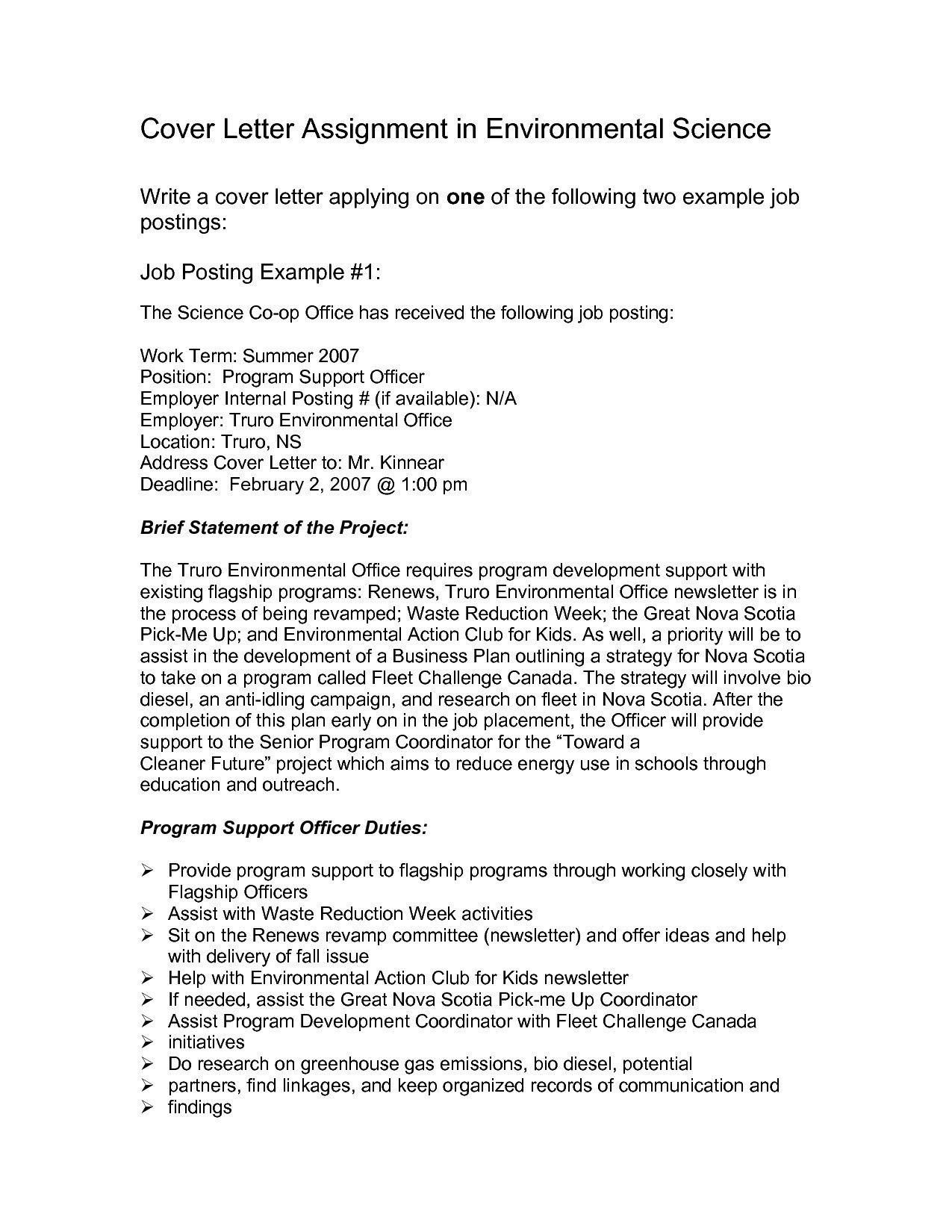 Cover Letter Template For Internal Position in 2020 Job
