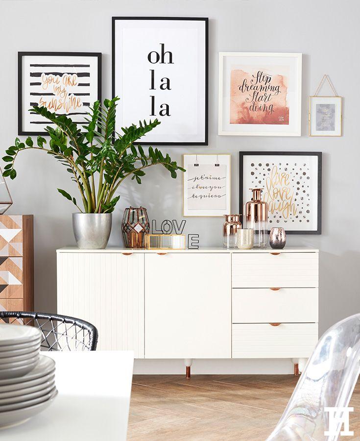 Sideboard Lesina - wohnzimmer weis gold