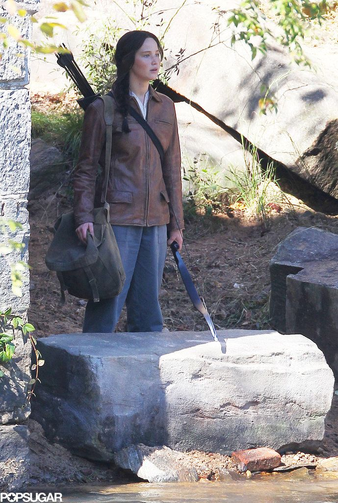 Jennifer Lawrence filmed a scene for Mockingjay in Georgia.