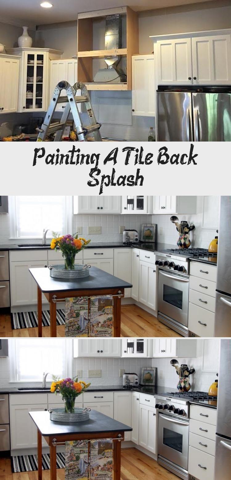 Painting A Tile Back Splash With Images Tile Backsplash Cottage Kitchen Tiles Tiles