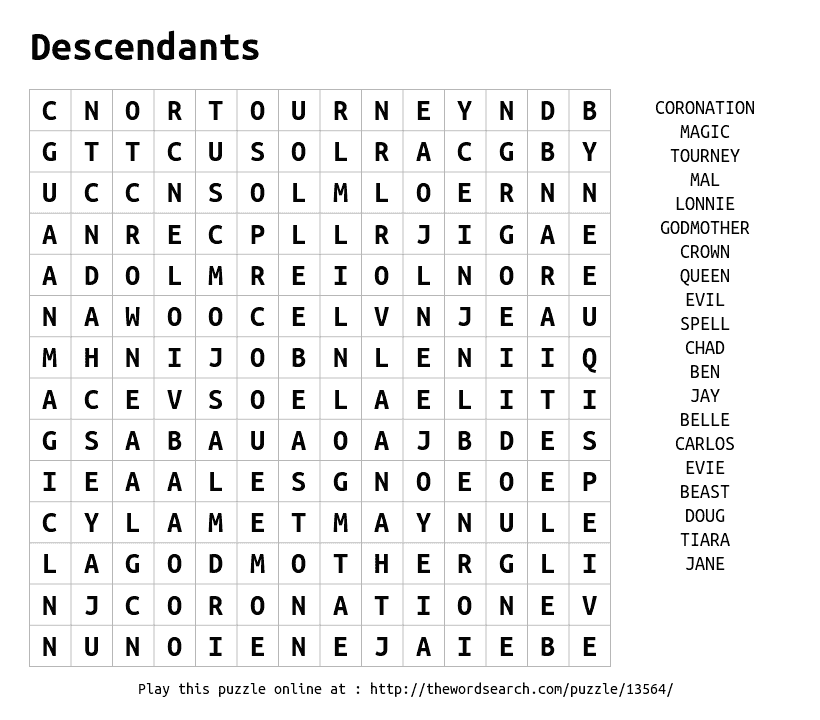Play Word Search Puzzles On Line Including This One More At Https Thewordsearch Com Disney Word Word Search Puzzles Character Words