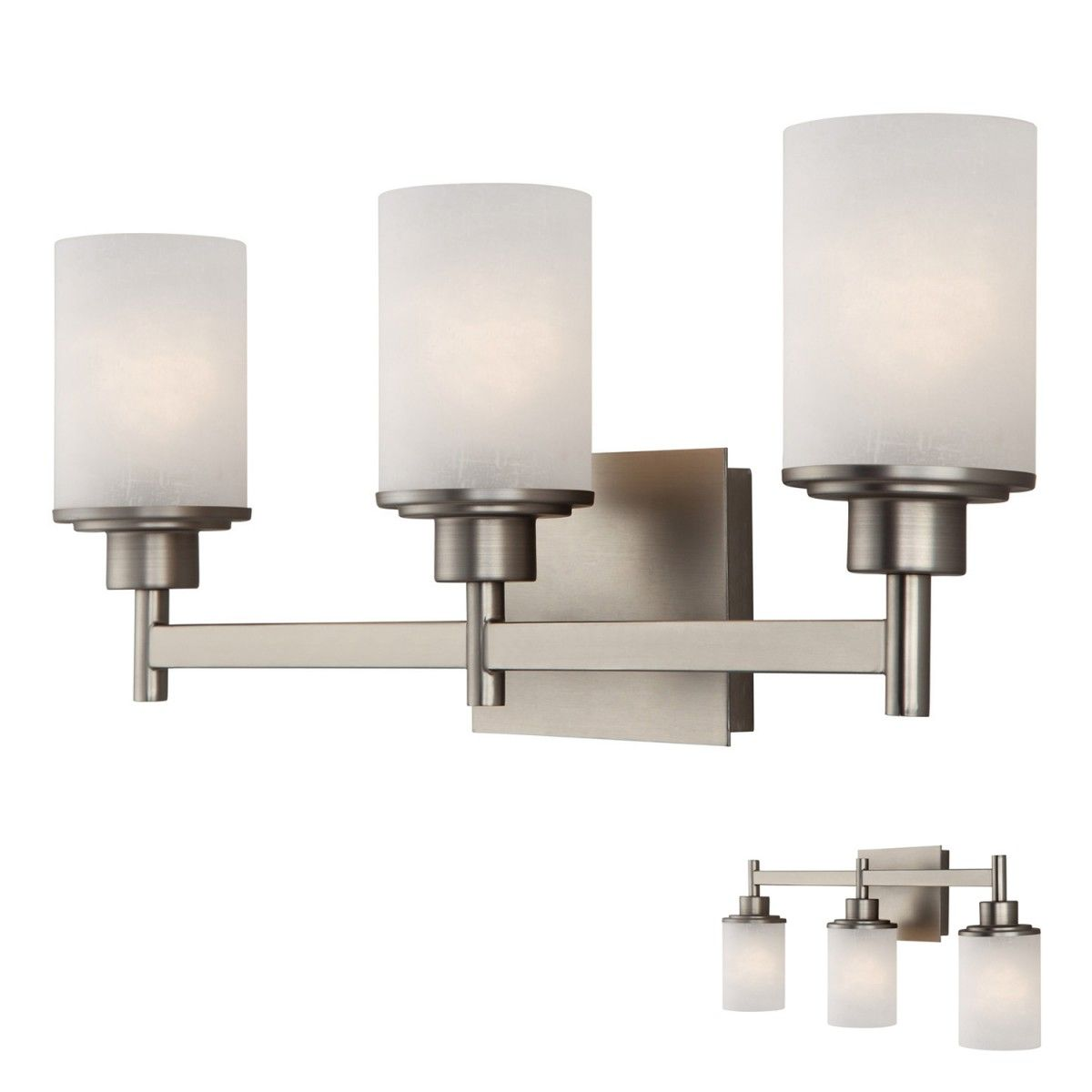 Canarm IVL408A03BN Lyndi 3 Globe Bath Vanity Light Bar Fixture