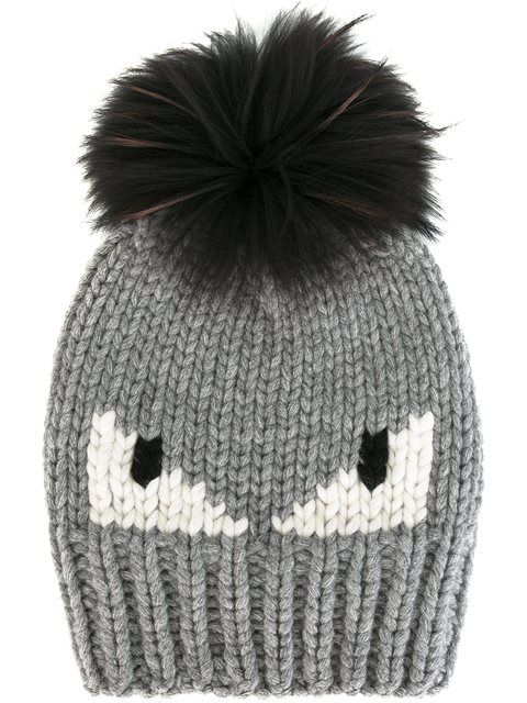 c77b8806166 Shop Fendi Bag Bugs beanie in Italiani from the world s best independent…