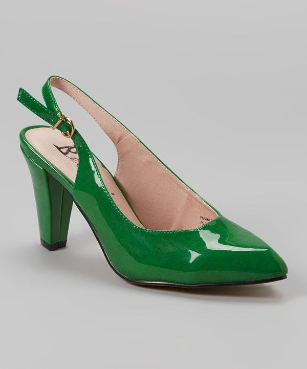 Look at this Emerald Green Patent Panama II Slingback on #zulily today!