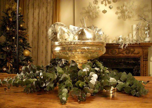 37 Christmas Centerpiece Ideas Gardens, Mercury glass and Glasses
