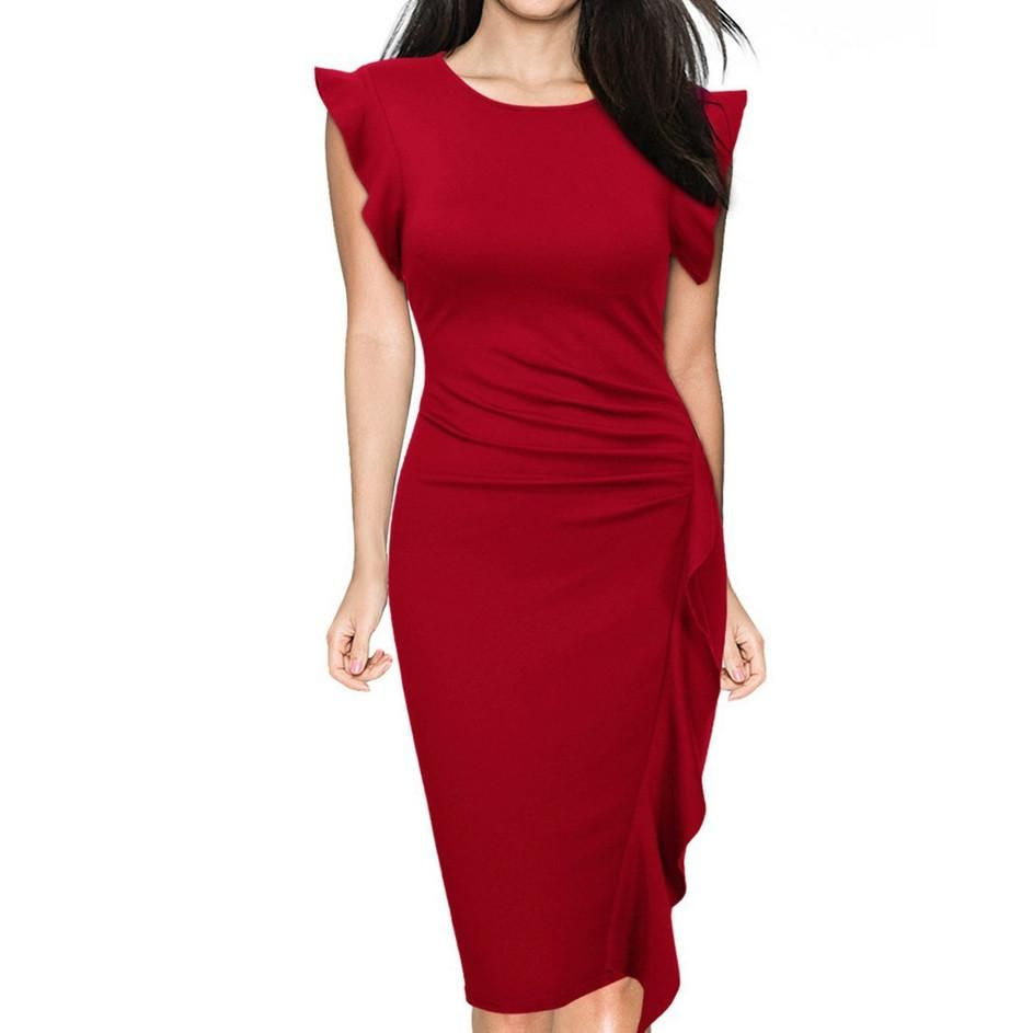Red sheath dress: the best combinations, features of choice and recommendations 78
