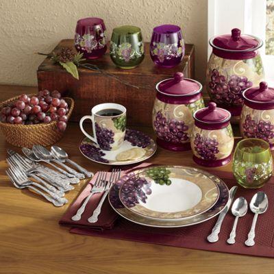 16 Piece Grape Vineyard Dinnerware Set Dinnerware Dinnerware