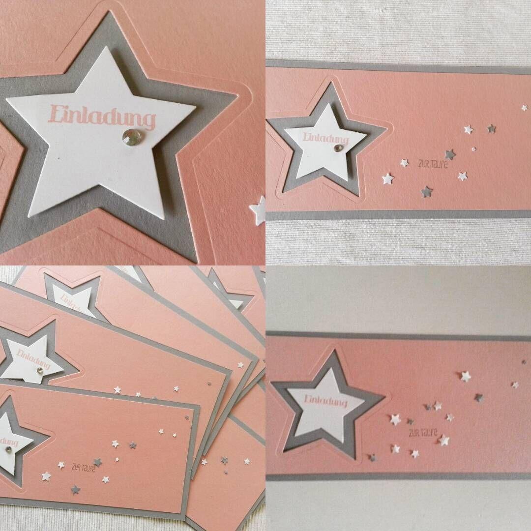 Stampinup Malebenschnellgemacht Einladung Taufe Stern