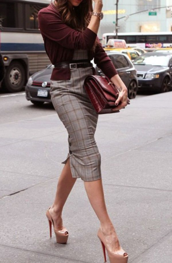 40 Business Women Pencil Skirt Outfits For 20160311 | Work ...