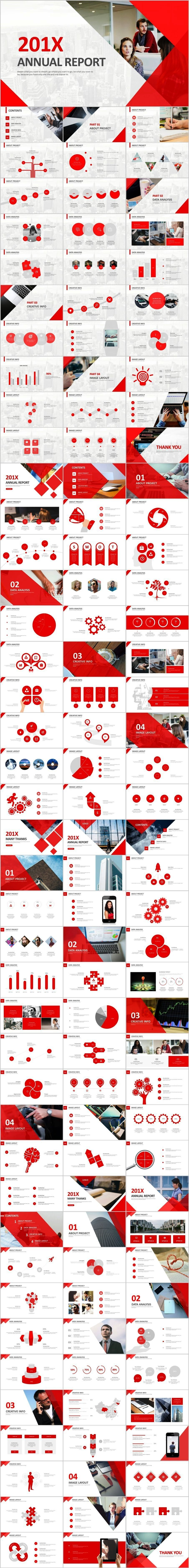 in 1 red annual report PowerPoint templatesThe highest quality PowerPoint Templates and Keynote Templates download4 in 1 red annual report PowerPoint templatesThe highest...