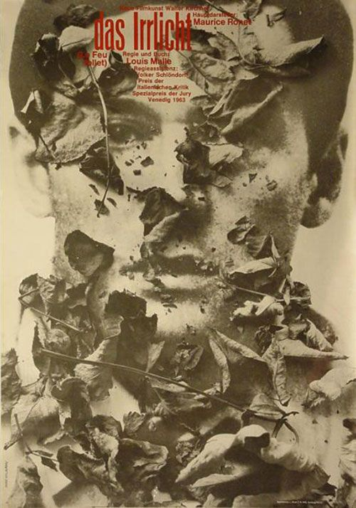 Le Feu Follet/ The Fire Within (1963, directed by Louis Malle) – Poster by Hans Hillmann