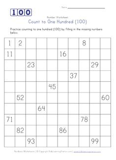 fill in the missing number - 100 50 25 20 etc | school | Pinterest