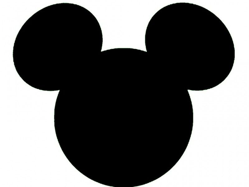 Mickey Mouse Head Silhouette Wallpaper   Clau   Pinterest   Mickey ...
