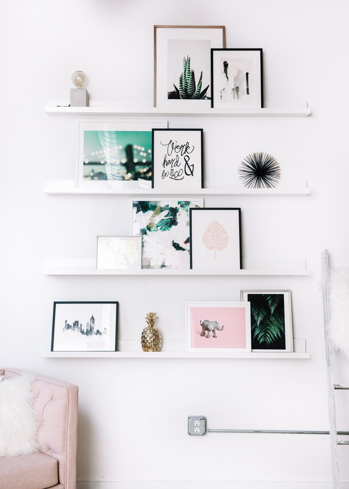 Scout The City On Pinterest Create An Office Gallery Wall To Spark Your Creativity