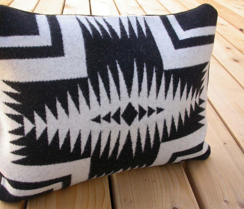 Pendleton Pillow cover - black and white Native American print ...
