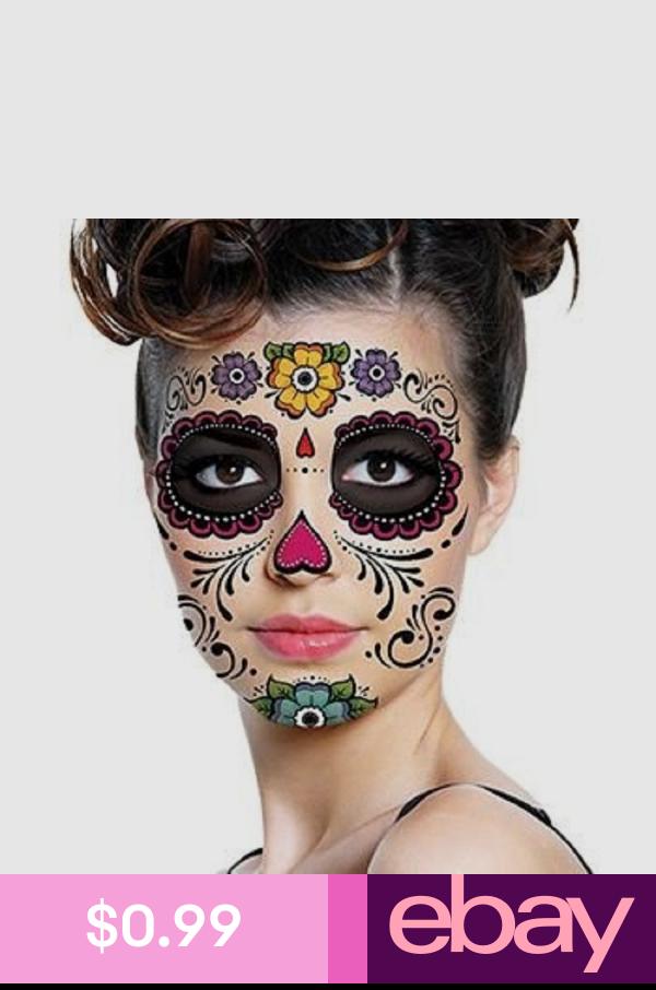 Temporary Tattoos Health & Beauty Sugar skull makeup