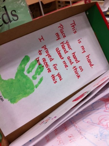 Christmas Child Boxes.Operation Shoebox Handprint Prayer Google Search